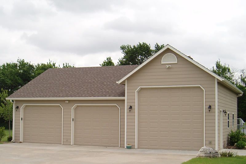 Prefab and detached car garages for sale in ks for Prefab 2 car detached garage