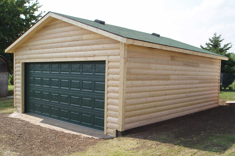 Log Sided Garage For Sale In Harper Ks Kansas Outdoor