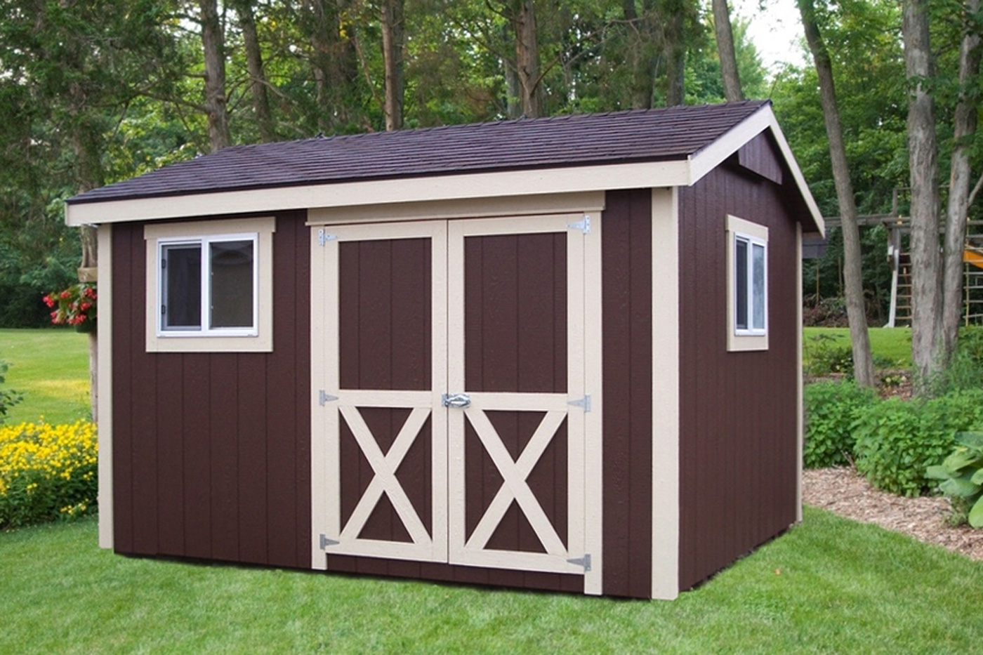 overhang with shed listitdallas for storage wood outdoor sale how cheap sheds galery